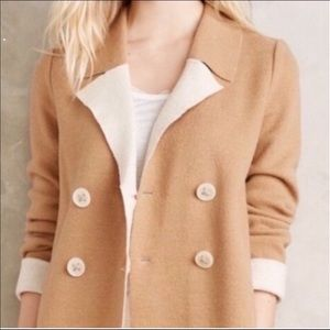 🍀 Anthropologie HWR wool tan jacket s